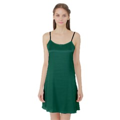 Christmas Green - Satin Night Slip
