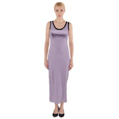 Wisteria Purple - Fitted Maxi Dress