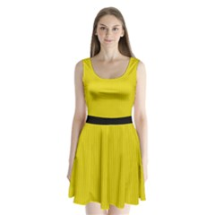 Citrine Yellow - Split Back Mini Dress