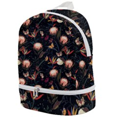 Seamless Garden Pattern Zip Bottom Backpack