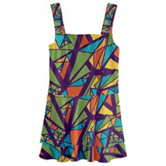 Aabstract Art Kids  Layered Skirt Swimsuit