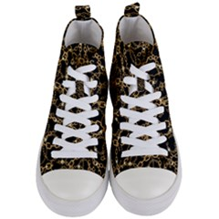 Chains Pattern 4 Women s Mid-top Canvas Sneakers