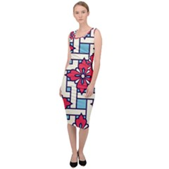 Diwali Pattern Sleeveless Pencil Dress