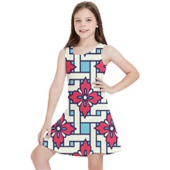 Diwali Pattern Kids  Lightweight Sleeveless Dress
