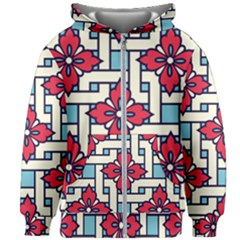 Diwali Pattern Kids  Zipper Hoodie Without Drawstring