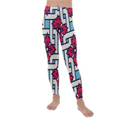 Diwali Pattern Kids  Lightweight Velour Leggings