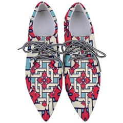Diwali Pattern Pointed Oxford Shoes