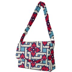 Diwali Pattern Full Print Messenger Bag (l)