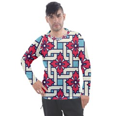 Diwali Pattern Men s Pique Long Sleeve Tee