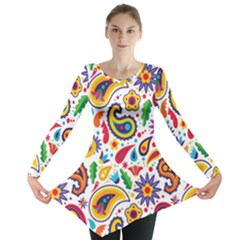 Baatik Print Long Sleeve Tunic