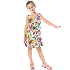 Baatik Print Kids  Sleeveless Dress by designsbymallika