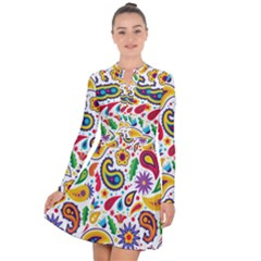 Baatik Print Long Sleeve Panel Dress