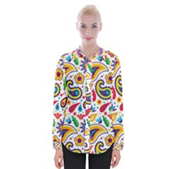 Baatik Print Womens Long Sleeve Shirt
