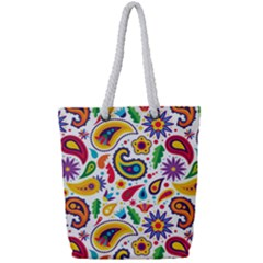 Baatik Print Full Print Rope Handle Tote (small)