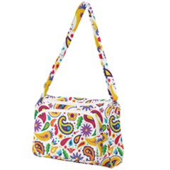 Baatik Print Front Pocket Crossbody Bag
