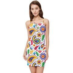 Baatik Print Summer Tie Front Dress
