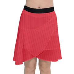Red Salsa - Chiffon Wrap Front Skirt