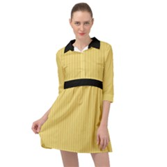 Jasmine Yellow - Mini Skater Shirt Dress
