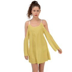 Jasmine Yellow - Kimono Sleeves Boho Dress