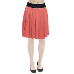 Living Coral - Pleated Skirt