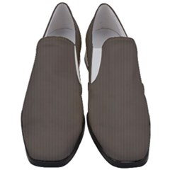 Carbon Grey - Women Slip On Heel Loafers