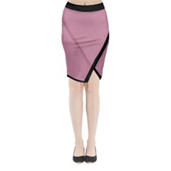 Cashmere Rose - Midi Wrap Pencil Skirt