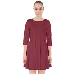 Chili Oil Red - Smock Dress by FashionLane