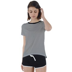Trout Grey - Short Sleeve Foldover Tee by FashionLane
