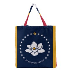 Flag Of Mississippi Grocery Tote Bag