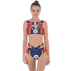 Flag Of Mississippi Bandaged Up Bikini Set