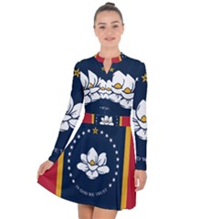 Flag Of Mississippi Long Sleeve Panel Dress