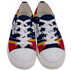 Flag Of Mississippi Women s Low Top Canvas Sneakers