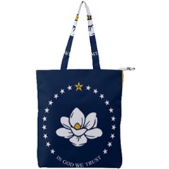 Flag Of Mississippi Double Zip Up Tote Bag