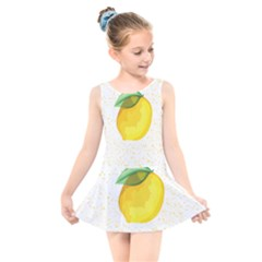 Illustration Sgraphic Lime Orange Kids  Skater Dress Swimsuit