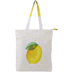 Illustration Sgraphic Lime Orange Double Zip Up Tote Bag