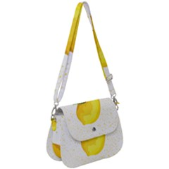 Illustration Sgraphic Lime Orange Saddle Handbag