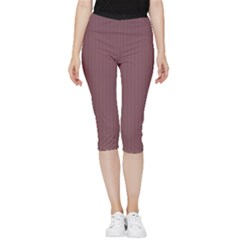 Dull Purple - Inside Out Lightweight Velour Capri Leggings  by FashionLane