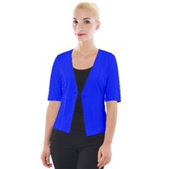 Just Blue - Cropped Button Cardigan
