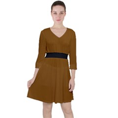 Just Brown - Ruffle Dress