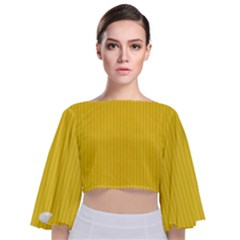 Just Yellow - Tie Back Butterfly Sleeve Chiffon Top