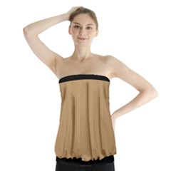 Pale Brown - Strapless Top