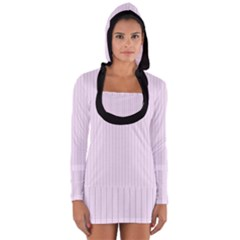 Pale Purple - Long Sleeve Hooded T-shirt by FashionLane
