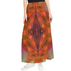 Landscape In A Colorful Structural Habitat Ornate Maxi Chiffon Skirt