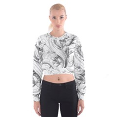 Dragon Lizard Vector Monster Cropped Sweatshirt