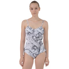 Dragon Lizard Vector Monster Sweetheart Tankini Set
