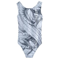 Dragon Lizard Vector Monster Kids  Cut-out Back One Piece Swimsuit
