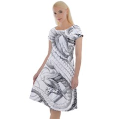 Dragon Lizard Vector Monster Classic Short Sleeve Dress