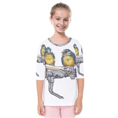 Biker Chicks - By Larenard Kids  Quarter Sleeve Raglan Tee