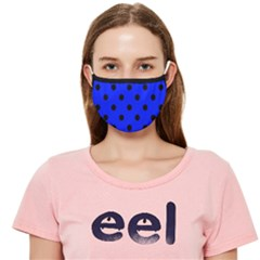 Large Black Polka Dots On Just Blue - Cloth Face Mask (adult) by FashionLane