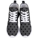 Large Black Polka Dots On Beluga Grey - Women s Lightweight High Top Sneakers View1